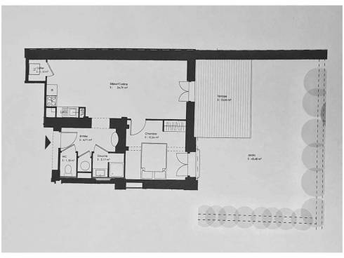 Ecully très bel appartement T2 en rez de jardin
