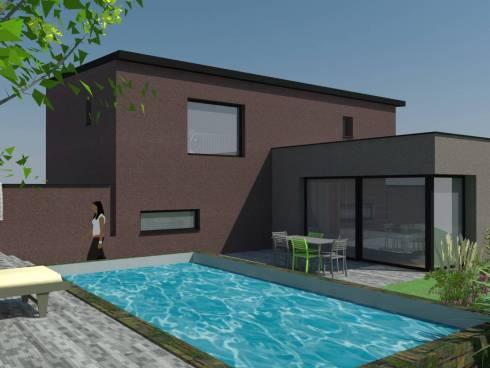 Sainte-Foy-les-Lyon belle villa contemporaine 152 m² avec piscine