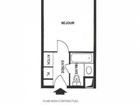Studio Les Menuires La Croisette - Les Menuires CHAVIERE
