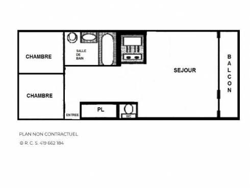 Appartement Les Menuires La Croisette - Les Menuires PELVOUX