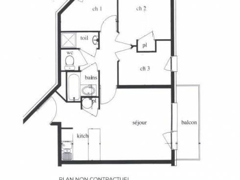 Appartement Les Menuires Reberty 1850 - Les Menuires BOSSON