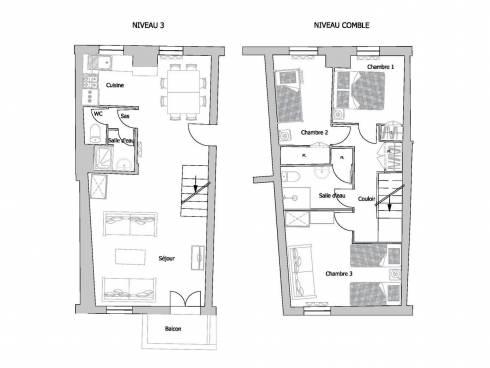 Appartement Saint-Martin-de-Belleville Centre - Saint-Martin-de-Belleville VOUTE