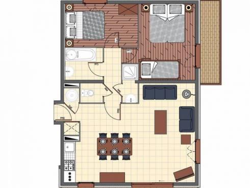 Appartement Saint-Martin-de-Belleville Centre - Saint-Martin-de-Belleville CORONILLES