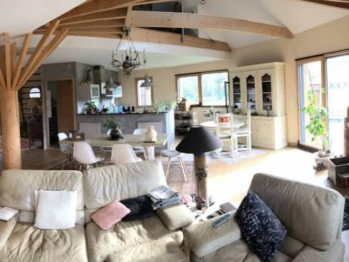 Maison de standing ossature bois et piscine à SAINT-MOLF