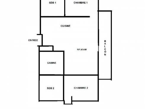 Appartement Les Menuires Reberty 2000 - Les Menuires NECOU