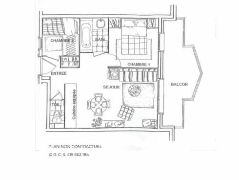 Appartement Les Menuires Reberty 2000 - Les Menuires LES ALPAGES DE REBERTY
