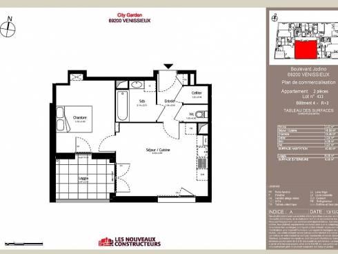 Vénissieux très belle appartement T2 au 3ème étage
