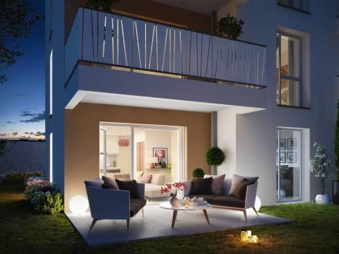 Villeurbanne appartement T3 en rez de jardin