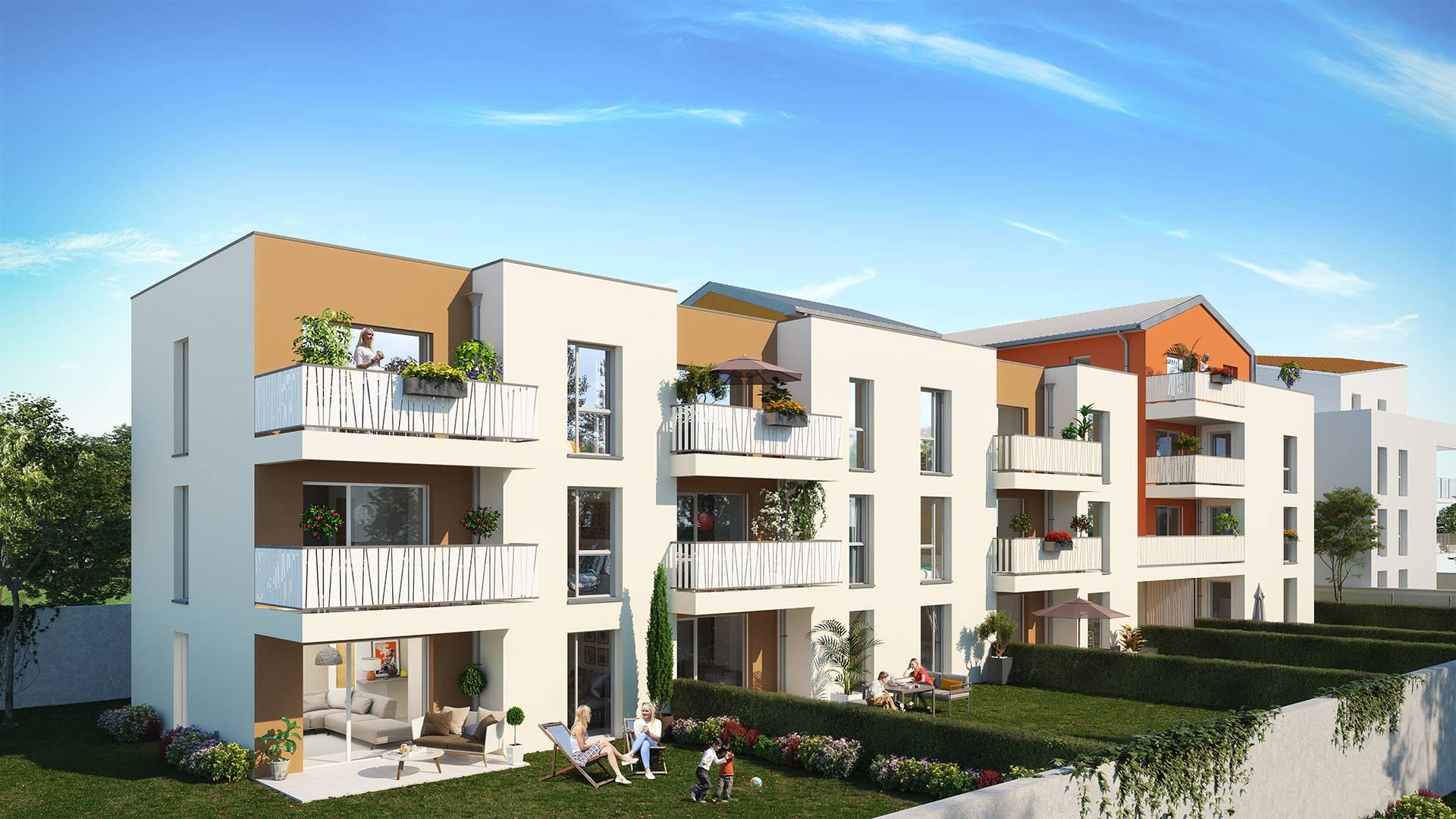 Villeurbanne bel appartement T2 en rez de jardin