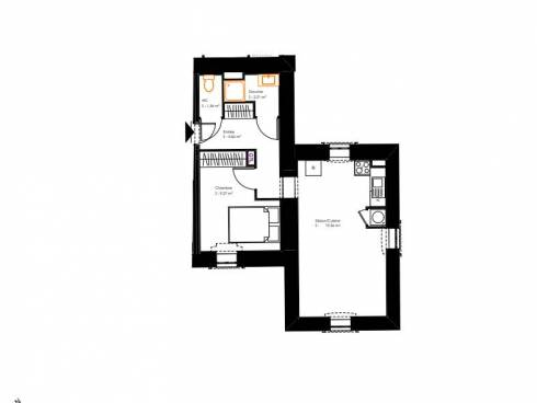 Ecully, appartement T2 dans une résidence de charme